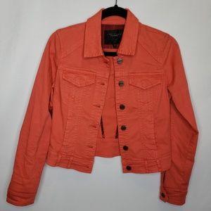 Sanctuary Clothing Coral Colored Denim Jacket